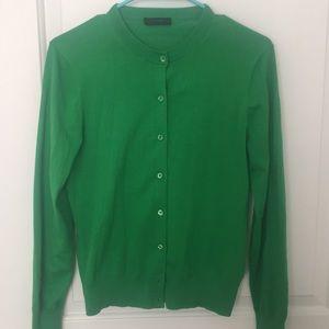 Green J. Crew Cardigan